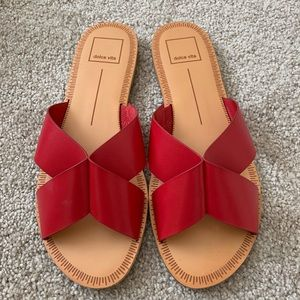 DV Dolce Vita red sandals 7.5